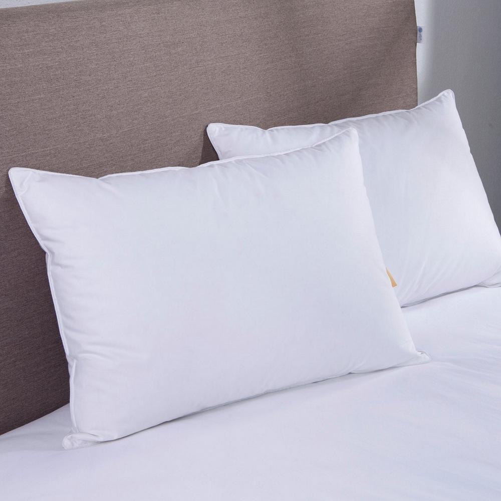 Puredown White Goose Down Blend Jumbo Pillow in Standard/Queen (Set of 2)