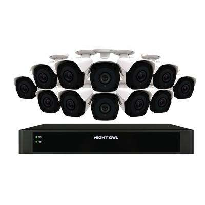 16-Channel 4K 4TB NVR Security Surveillance System with 12 Wired IP Cameras