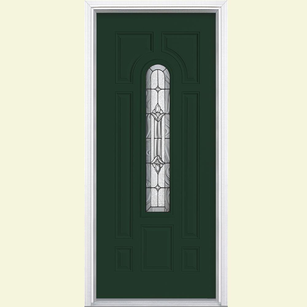 Masonite 36 in. x 80 in. Providence Center Arch Right-Hand ...
