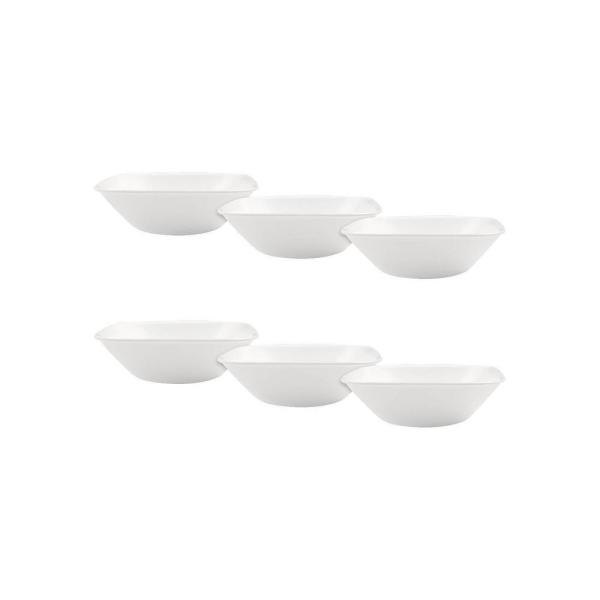 Corelle Square Vitrelle Serving Bowl (22oz) White - Set of 6