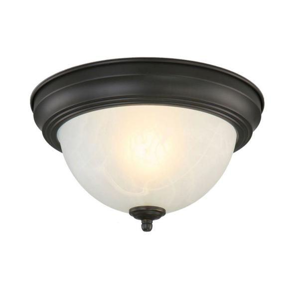Hampton Bay 2 Light Rust Flush Mount