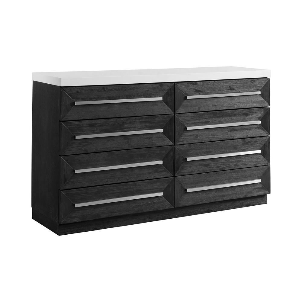 Grace 8-Drawer Black Dresser