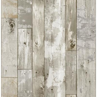 Brown Driftwood Peel and Stick Wallpaper Vinyl