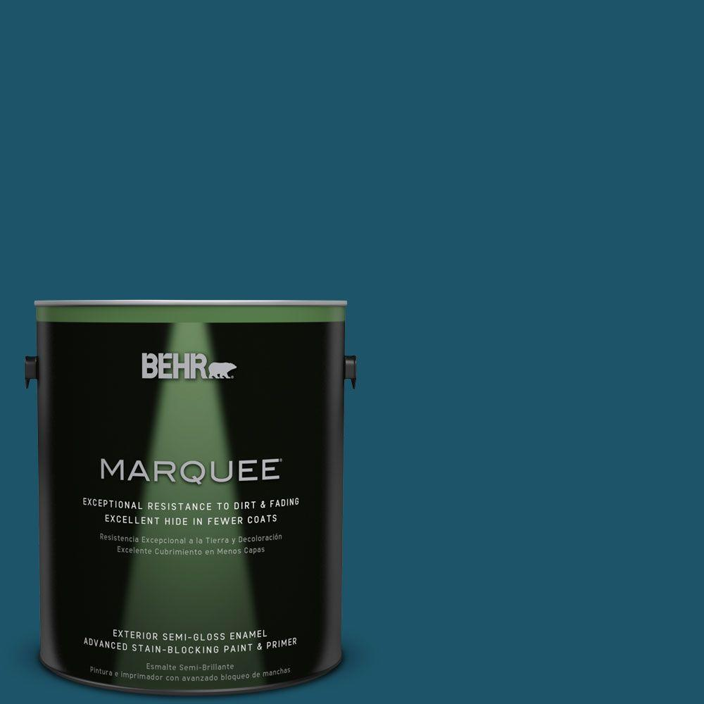 BEHR MARQUEE 1-gal. #S-H-540 Quiet Storm Semi-Gloss Enamel Exterior Paint