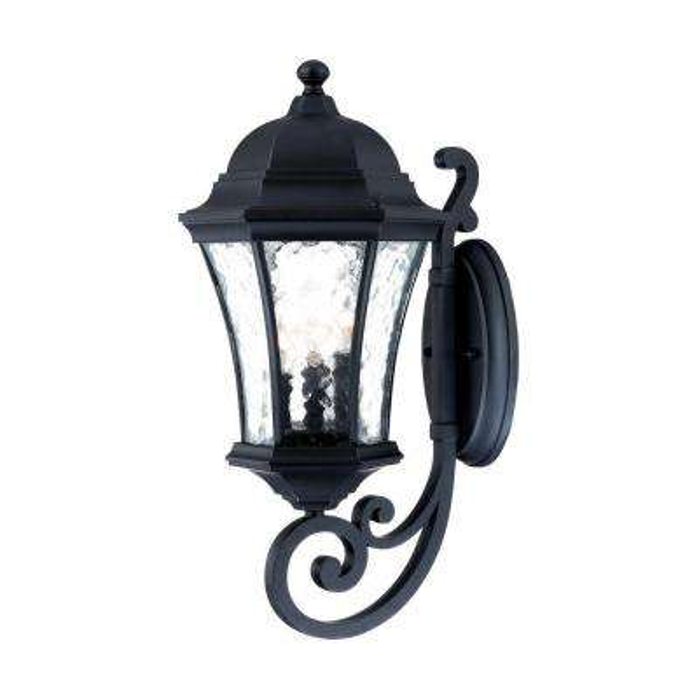 Waverly Collection 3-Light Matte Black Outdoor Wall-Mount Light Fixture
