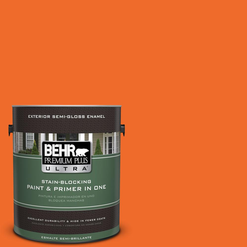 BEHR Premium Plus Ultra 1-gal. #S-G-240 Dragon Fire Semi-Gloss Enamel Exterior Paint