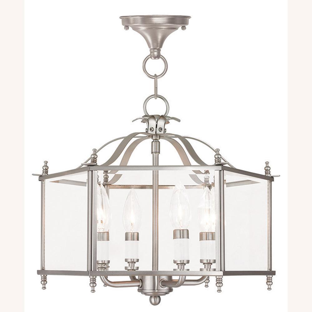 Livingston 4-Light Brushed Nickel Pendant