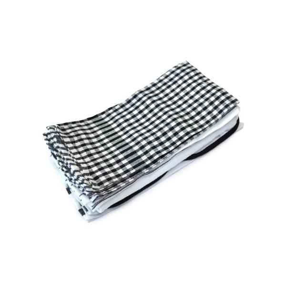 Black Utility Dish Towel Set (Set of 20)