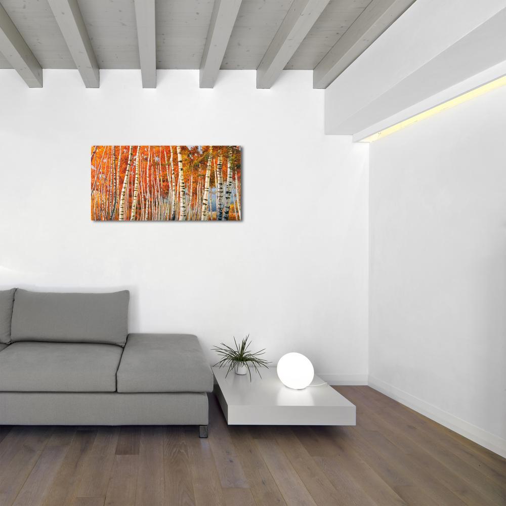 10 in. H x 22 in. W 'SAI - Fall Leaf Tree's' by Oliver Gal Framed Canvas Wall Art