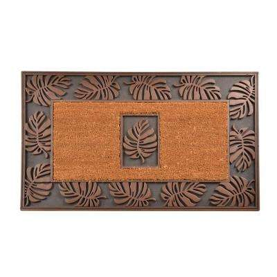Outdoor Leaf 1 ft. 10 in. x 3 ft. Coir and Rubber Door Mat
