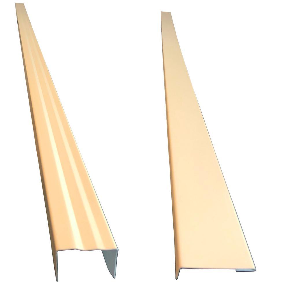 2.5 in. x 2.25 in. x 85 in. Complete Aluminum Metal Brickmold and Jamb Door Trim Cover Kit-72 in. Door w/Siding, Almond
