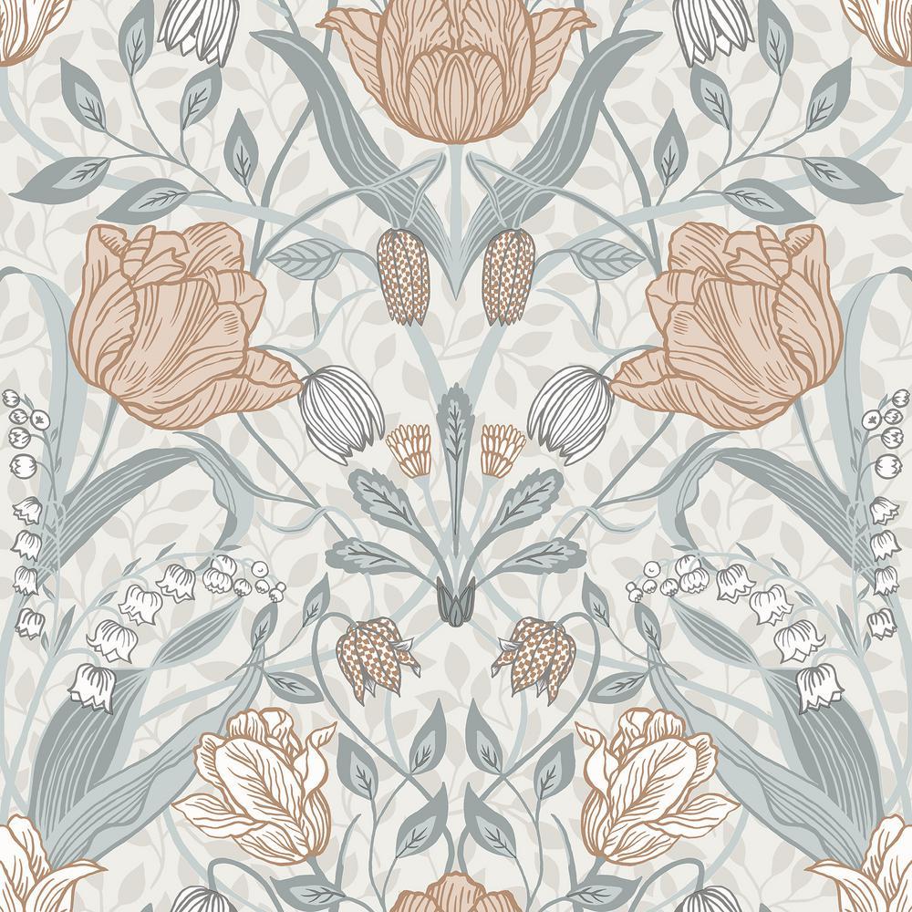 Tulipa Off-White Floral Wallpaper