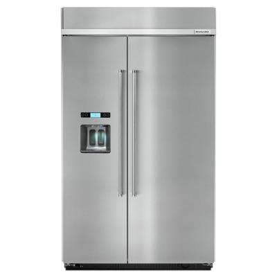 29.5 cu. ft. Built-In Side by Side Refrigerator in Stainless Steel
