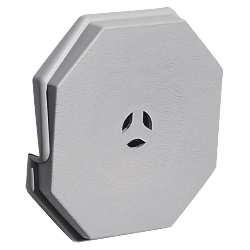 Builders Edge 6.625 in. x 6.625 in. #016 Gray Surface Mounting Block
