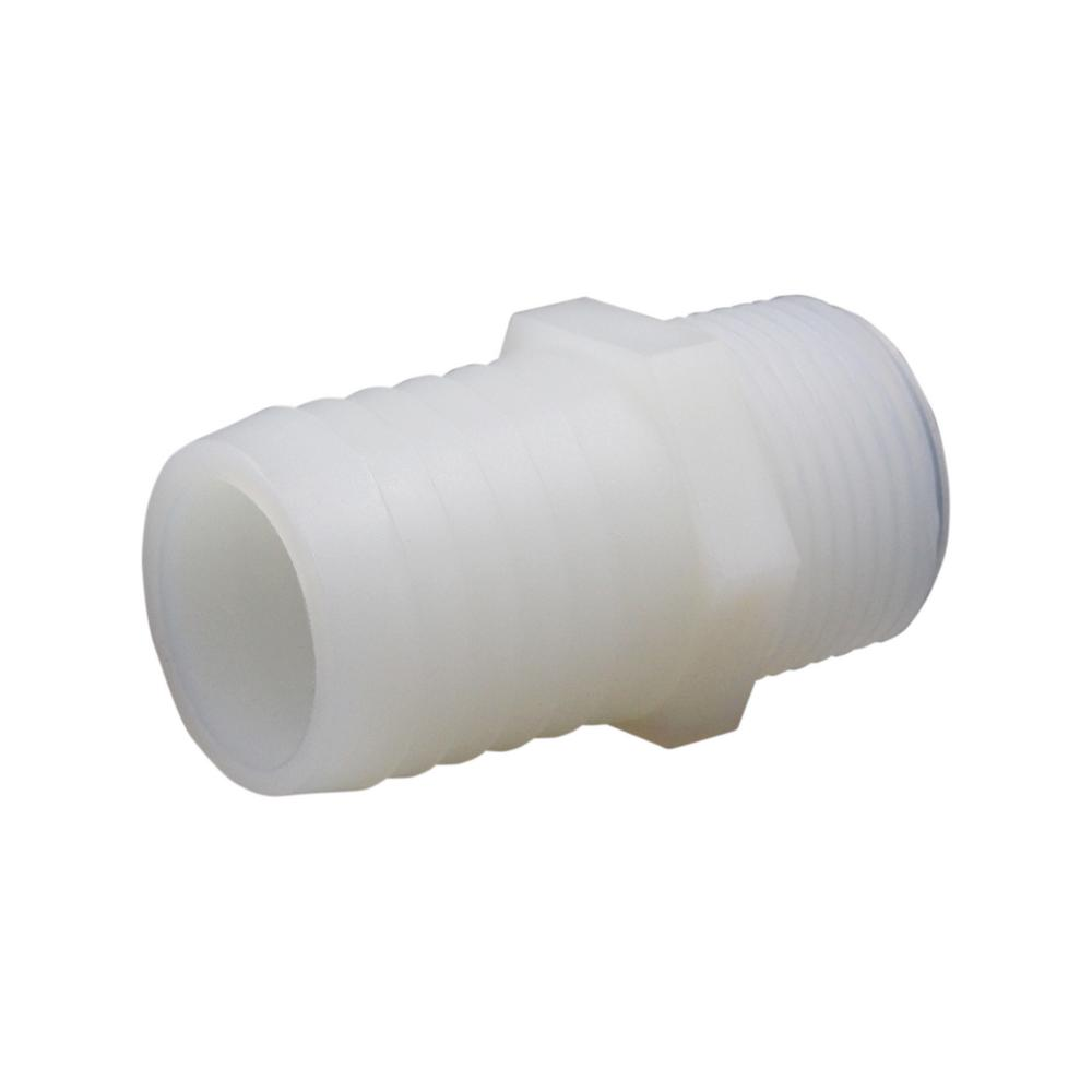 3//8 Hose ID x 3//8 Hose ID Black HDPE Connector Pack of 20