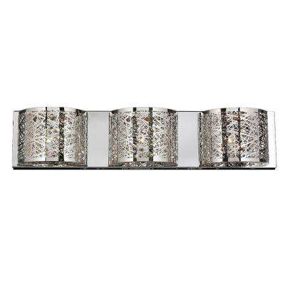 Aramis Collection 3-Light Chrome Crystal Sconce
