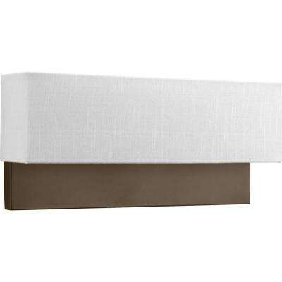 LED Sconces Collection 9 -Watt Architectural Bronze Integrated LED Sconce