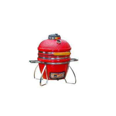 Cadet Kamado Charcoal Grill in Red
