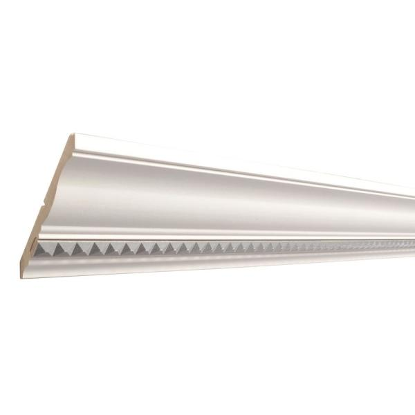 Haute Silver Pyramid 1/2 in. x 4-1/2 in. x 96 in. Primed Wood Crown Moulding
