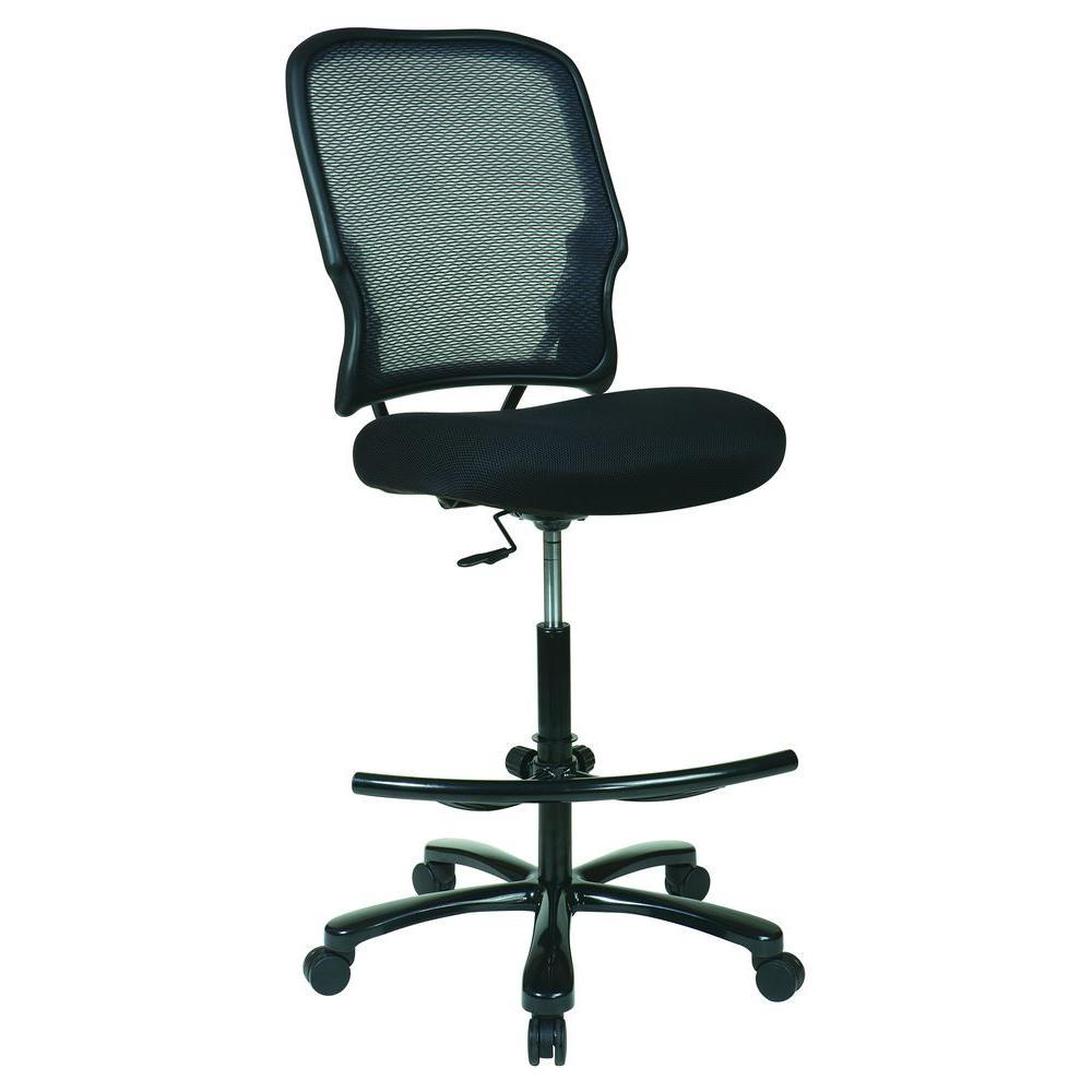 Black Big Man's Drafting Chair