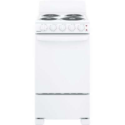 20 in. 2.3 cu. ft. Electric Range Oven in White