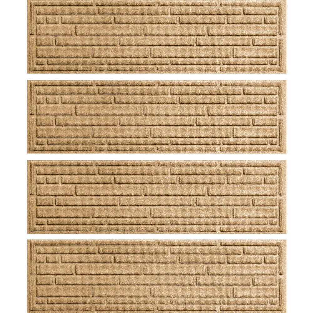 Aqua Shield Gold 8.5 in. x 30 in. Broken Brick Stair Tread Cover (Set of 4)