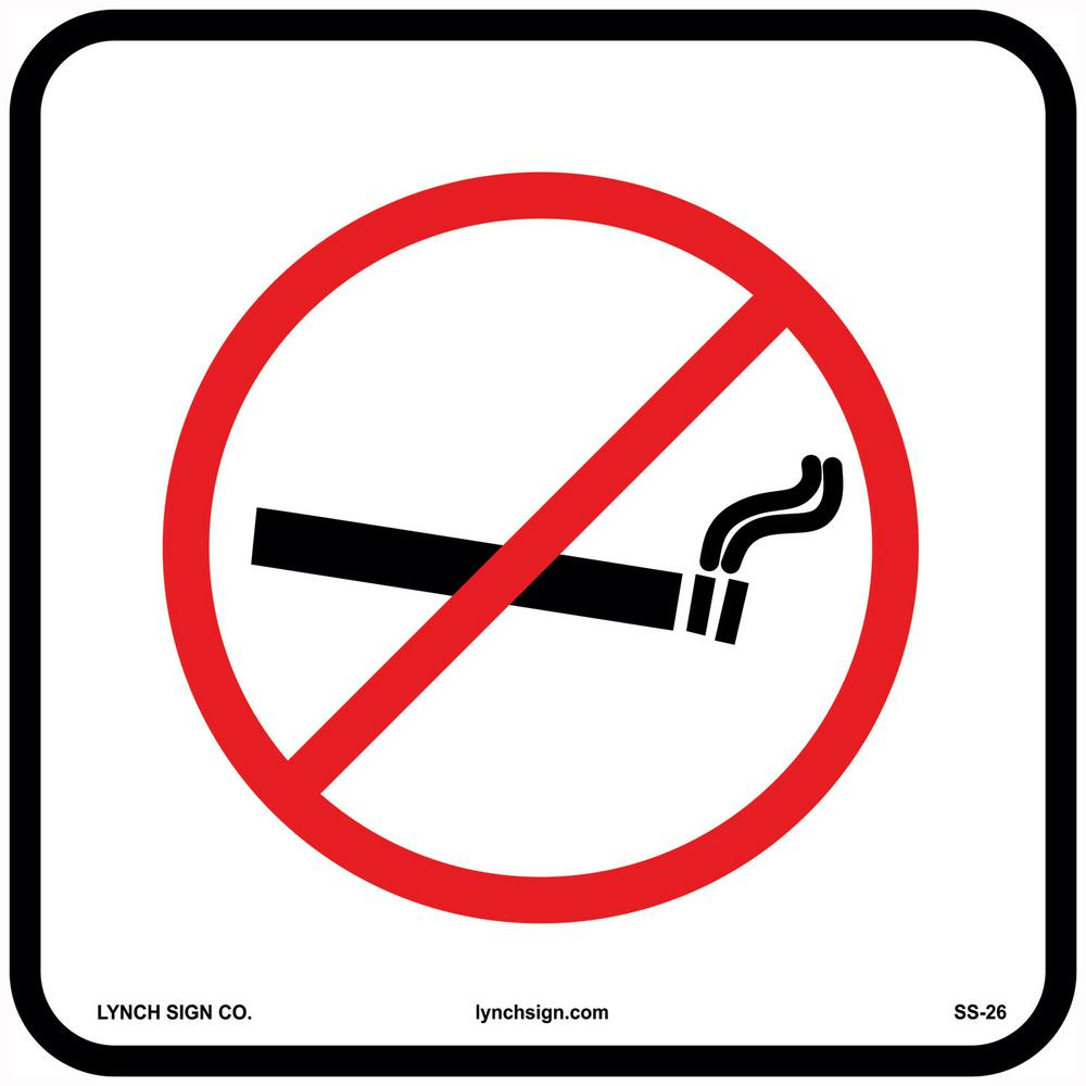 12 in. x 12 in. No Smoking Sign Printed on More