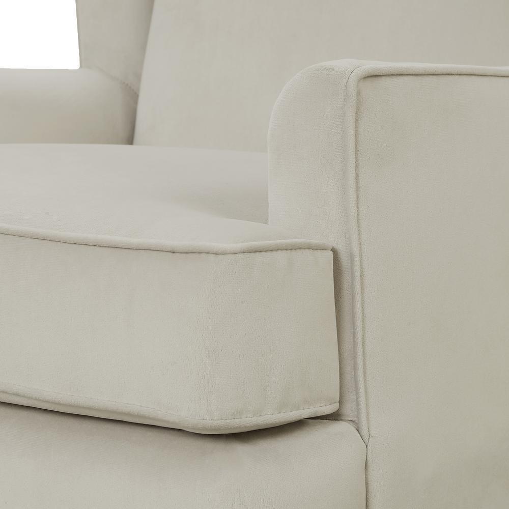 Lennox Furniture Glider Chair and Ottoman Set Espresso//Buckwheat