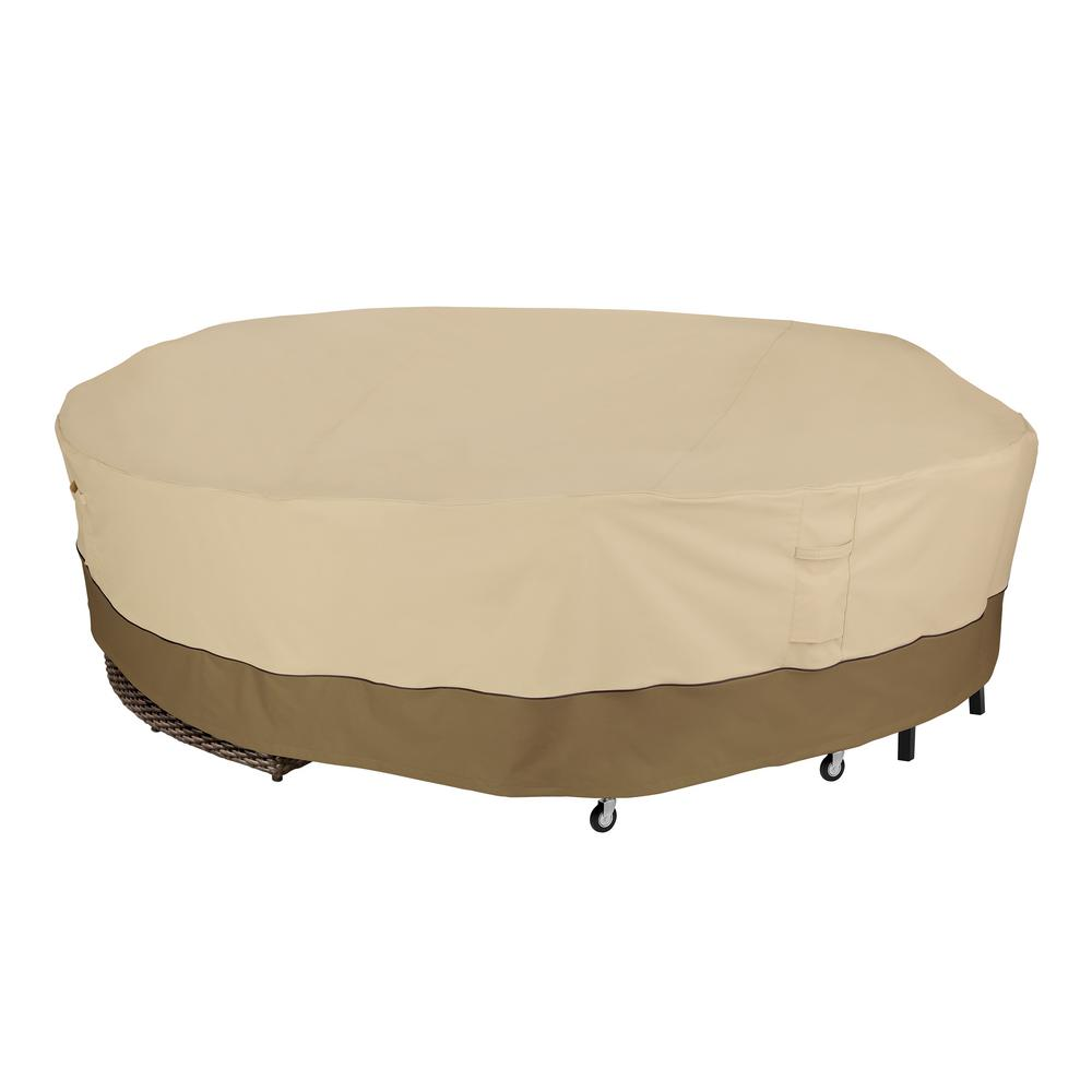 Veranda 130 in. Dia x 30 in. H Round General Purpose Patio Furniture Cover