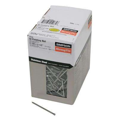 8d 2-1/2 in. 12-Gauge 304 Stainless Steel Finishing Nail (5 lbs.)