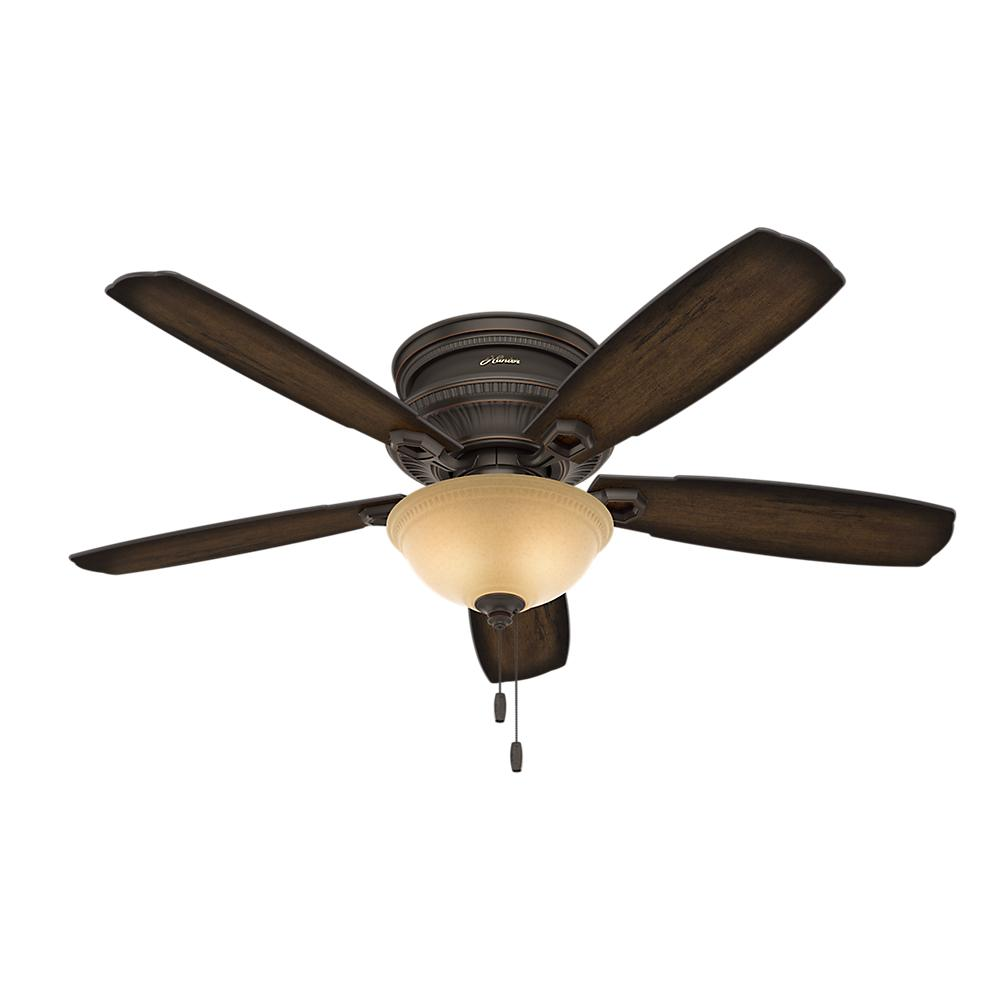 Ambrose 52 in. Indoor Onyx Bengal Bronze Low Profile Ceiling Fan