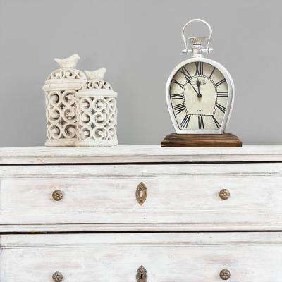 Figaro Silver Table Top Clock