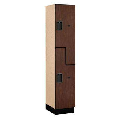 27000 Series 2-Tier 'S-Style' Wood Extra Wide Designer Locker in Mahogany - 15 in. W x 76 in. H x 18 in. D