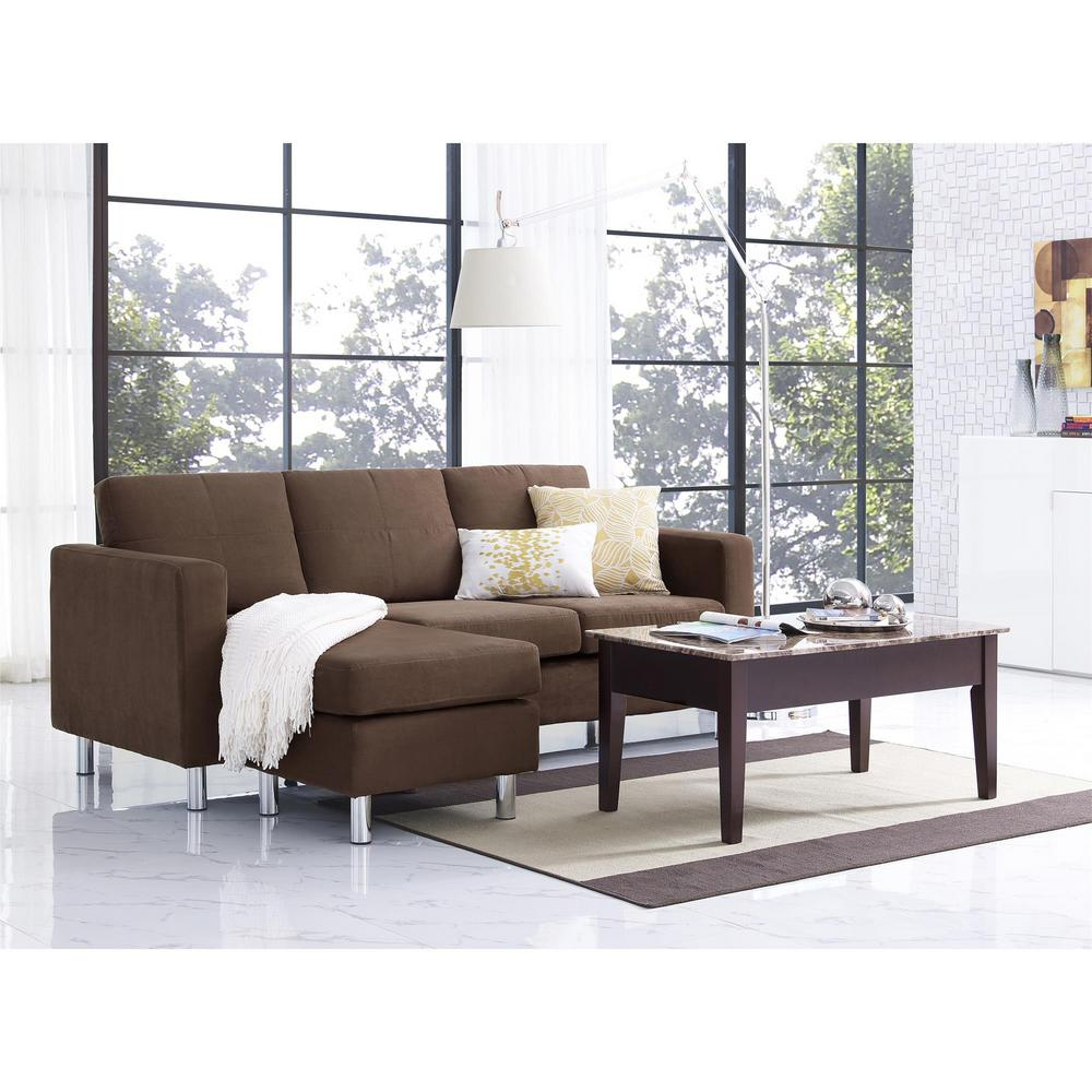 This Review Is From Small Es 2 Piece Configurable Brown Sectional Sofa