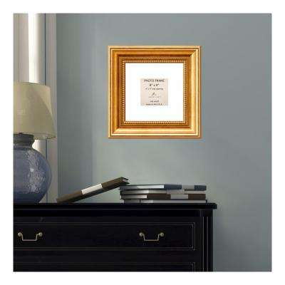 Townhouse 4 in. x 4 in. White Matted Gold Picture Frame