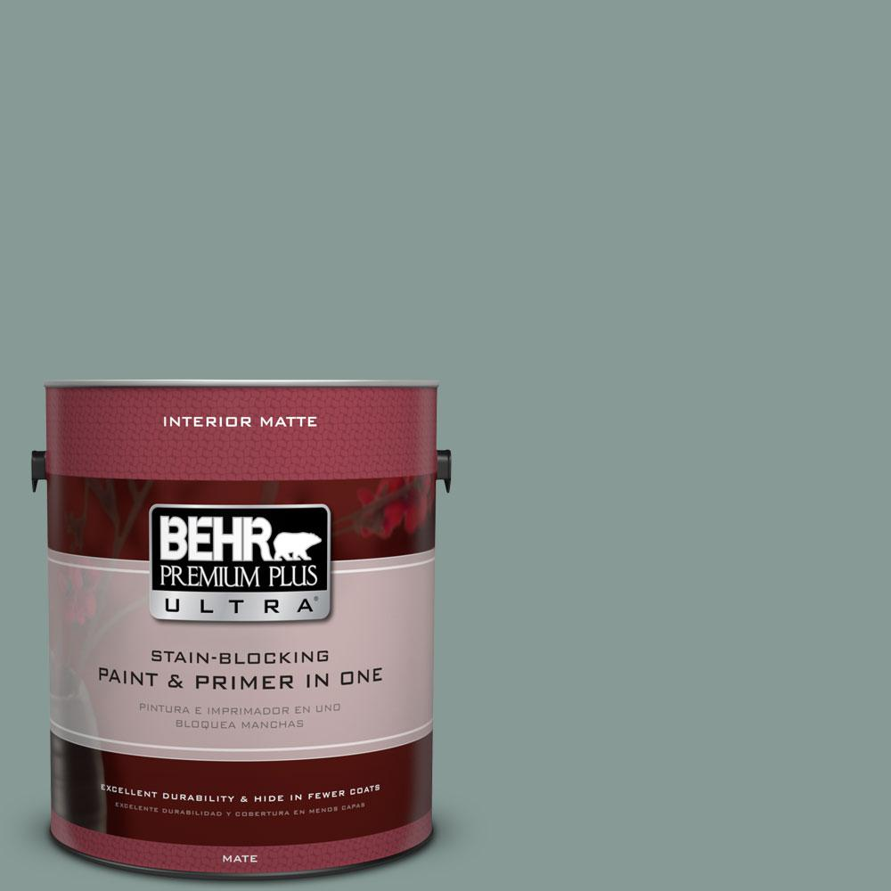 1 gal. #490F-5 Cloud Burst Matte Interior Paint and Primer in