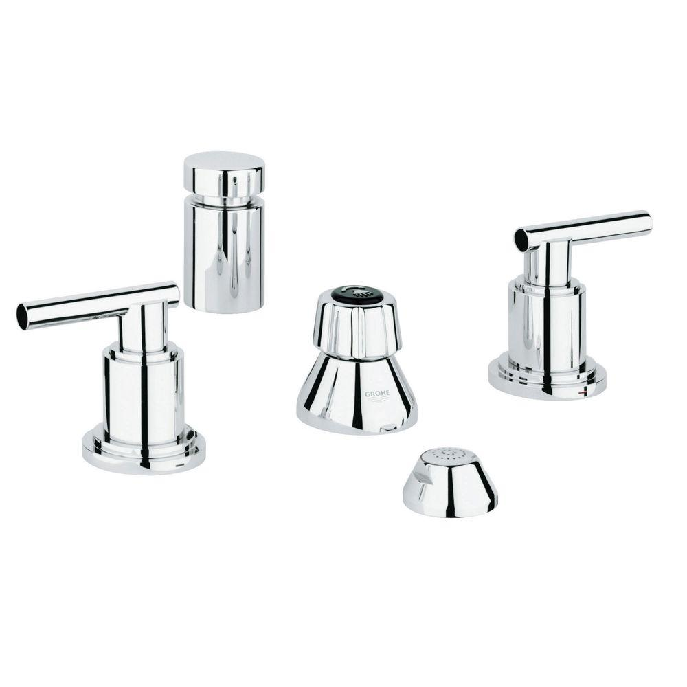 GROHE Atrio 2-Handle Bidet Faucet in StarLight Chrome-24 016 000 ...
