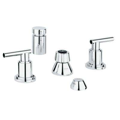 Atrio 2-Handle Bidet Faucet in StarLight Chrome