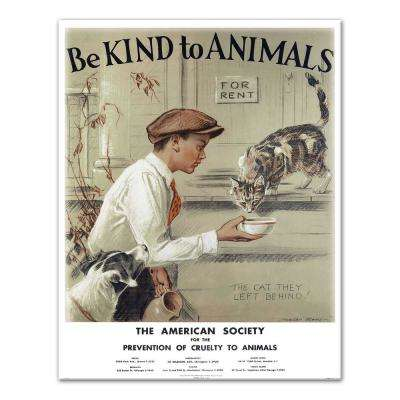 "14 in. x 11 in. ""Be Kind to Animals Scene I"" Printed Canvas Wall Art"