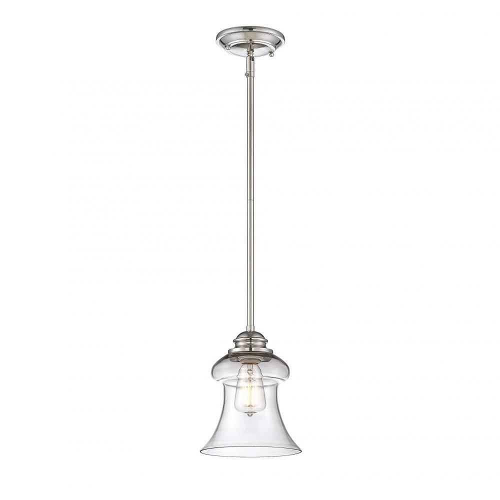 Barrie 1-Light Polished Nickel Mini Pendant