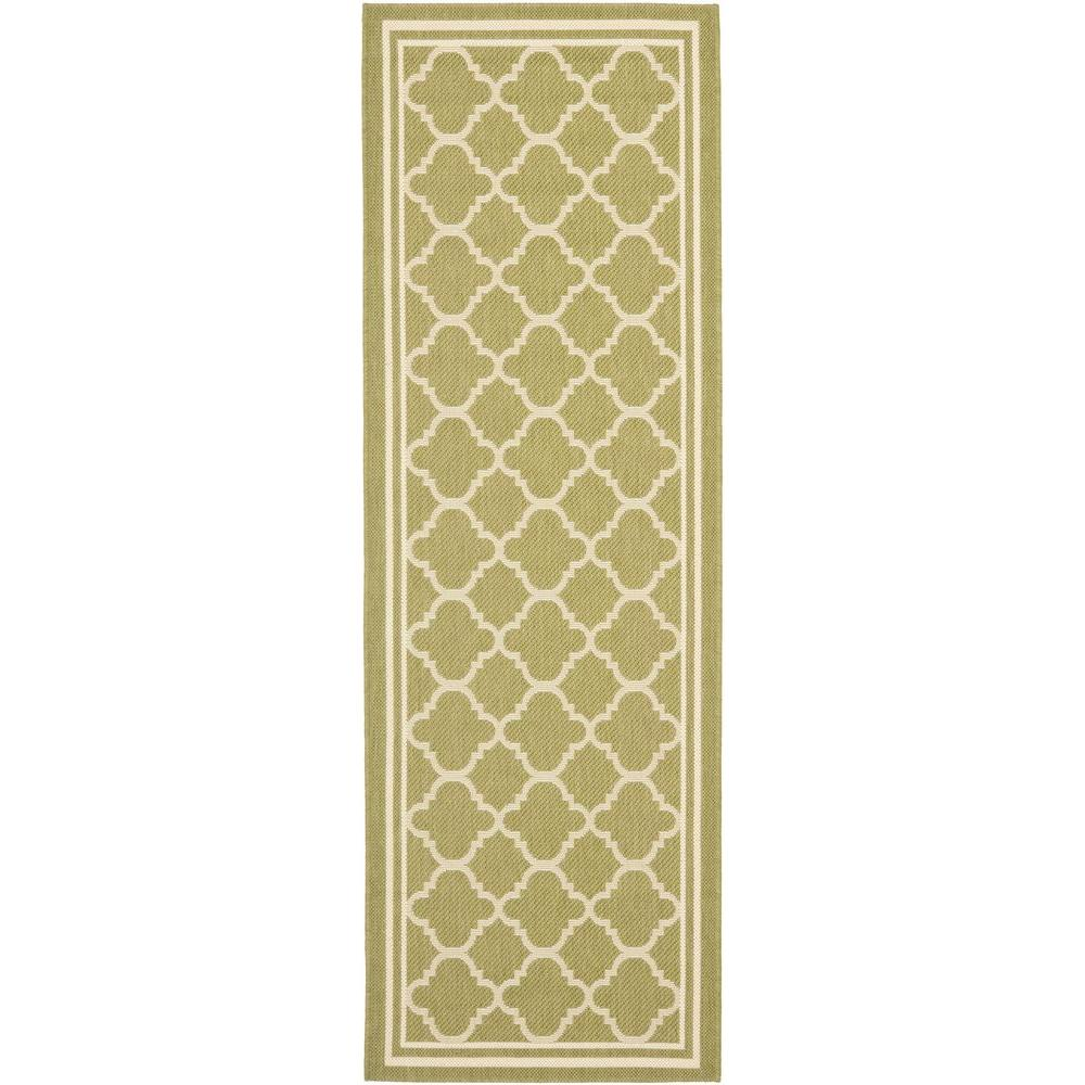 Safavieh Courtyard Green/Beige 2 ft. 4 in. x 12 ft. Indoor/Outdoor Runner