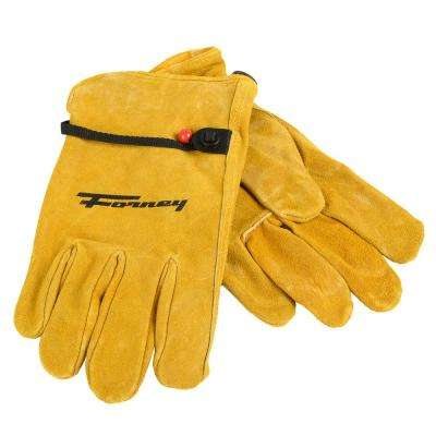 Lined Suede Cowhide Leather Driver's Gloves (Men's M)