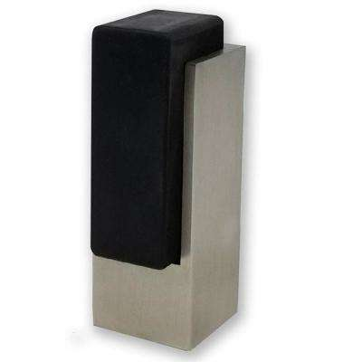 Tall Rectangular Square Brushed Satin Stainless Steel Floor Mounted Stop for Doors (5-Pack)