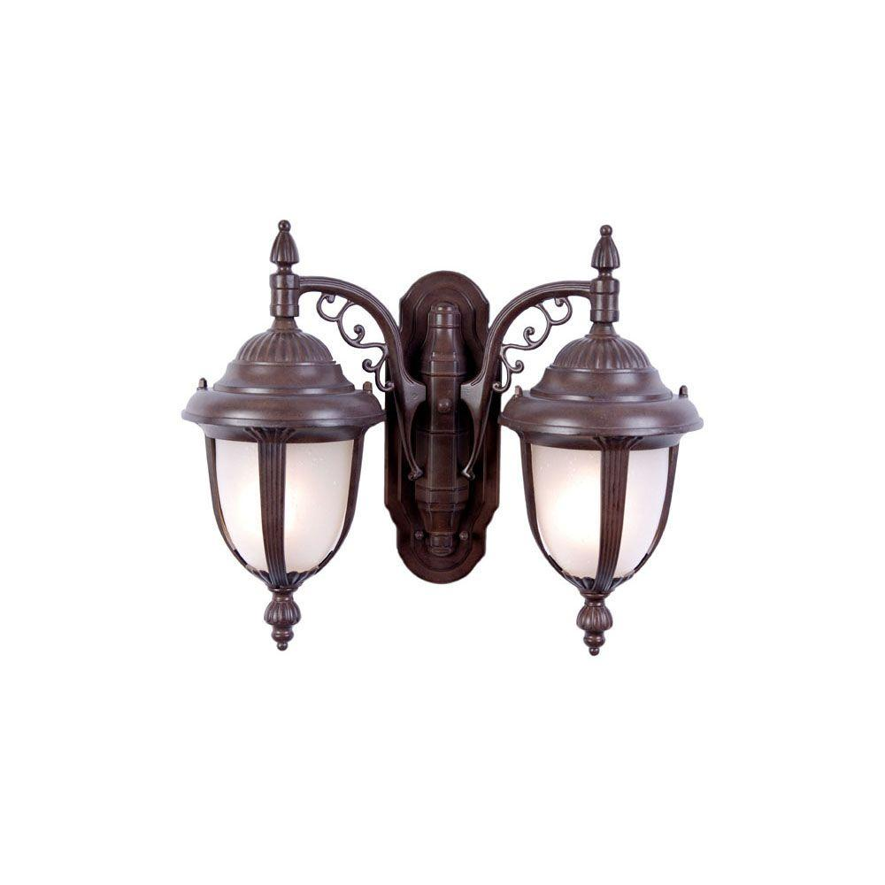 Acclaim Lighting Monterey Collection Wall-Mount 2-Light Outdoor Burled Walnut Light Fixture