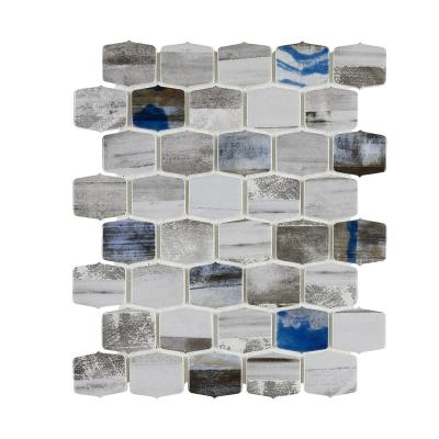 Seaside Montery 9.84 in. x 12.13 in. Lantern Glass Mesh-Mounted Mosaic Tile (0.83 sq. ft./Each)