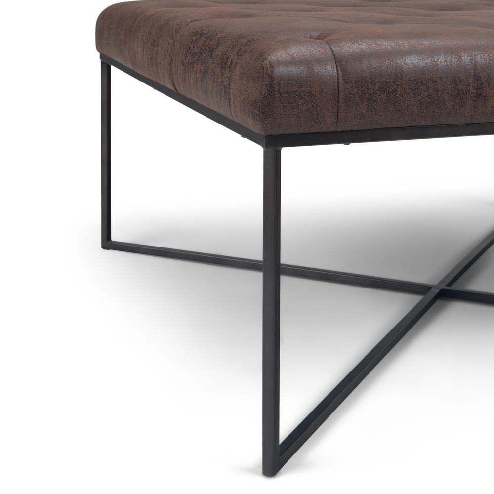 Swell Simpli Home Portman 38 In Contemporary Modern Square Machost Co Dining Chair Design Ideas Machostcouk