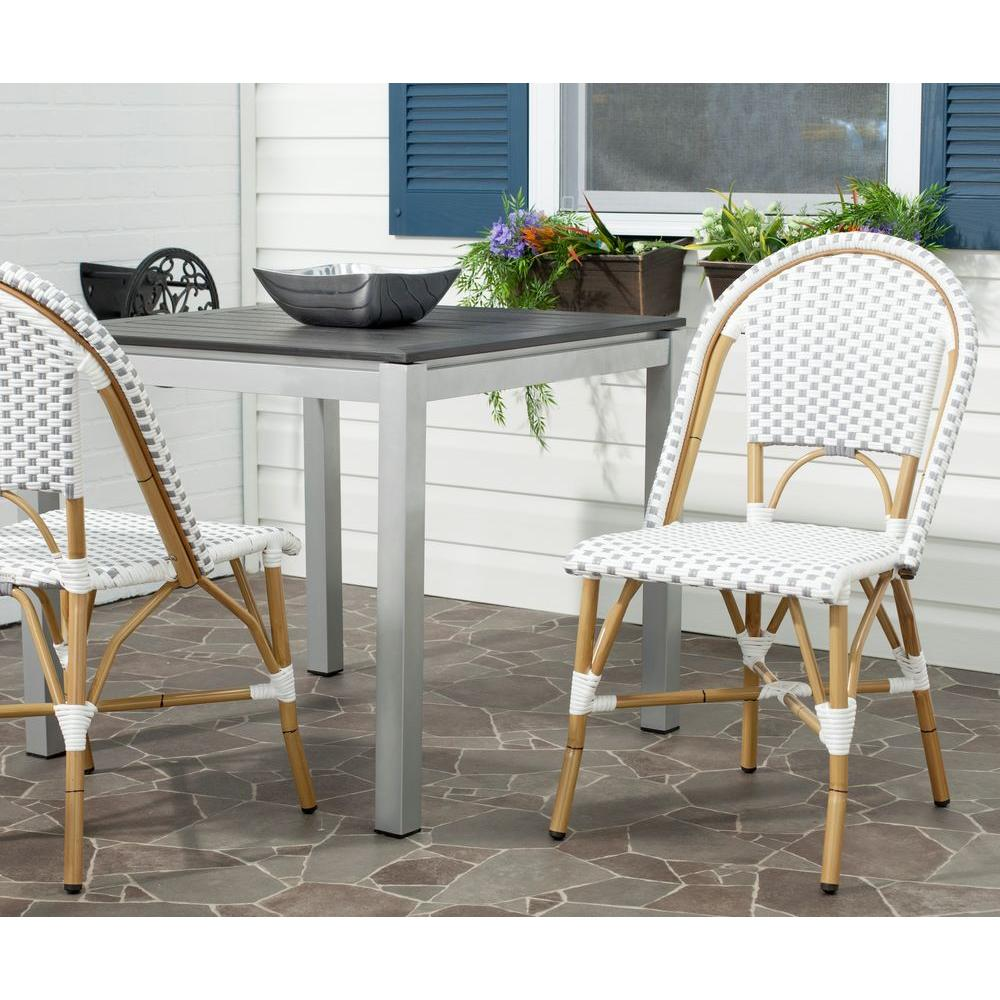 Remarkable Safavieh Salcha Grey White Patio Dining Chair 2 Pack Gmtry Best Dining Table And Chair Ideas Images Gmtryco