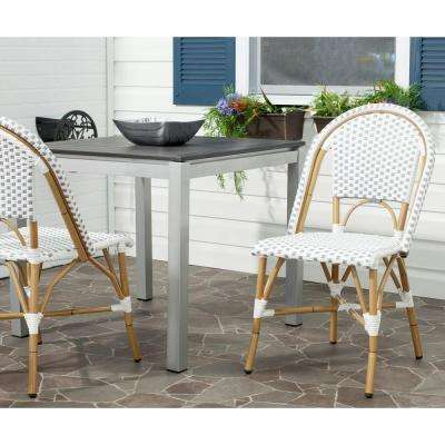Salcha Grey & White Patio Dining Chair (2-Pack)