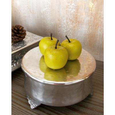 Silver Round Aluminum Cake Stands (4-Pack)