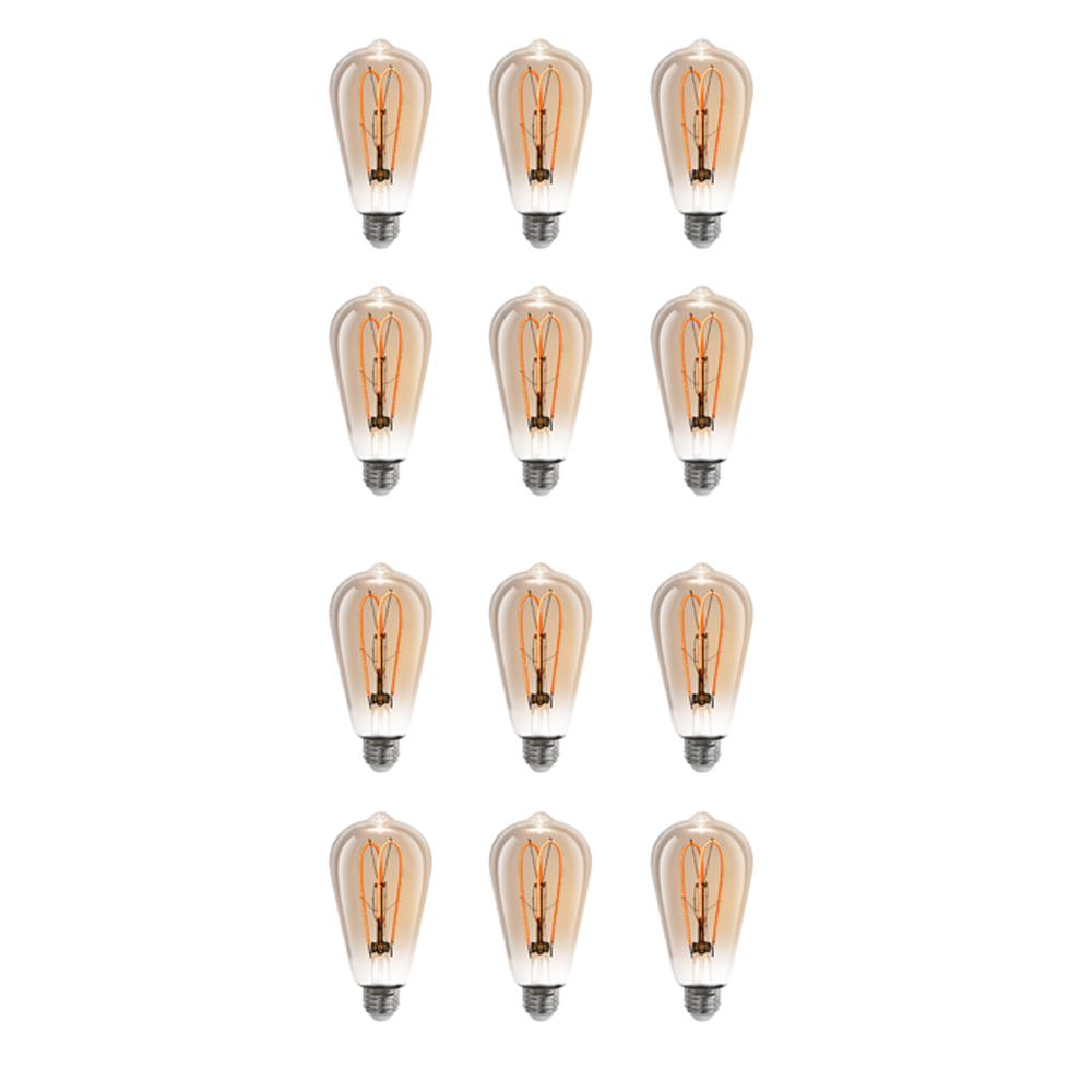 Feit Electric 40w Equivalent Soft White A19 Clear Filament: Feit Electric 40W Equivalent Soft White (2000K) ST19